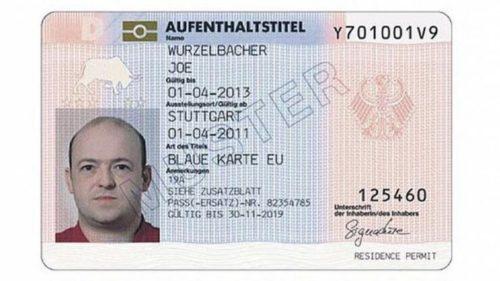 Как выглядитBlue Card EU