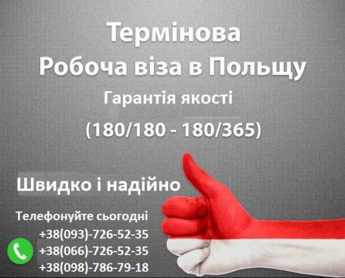 Термінова робоча віза в Польщу