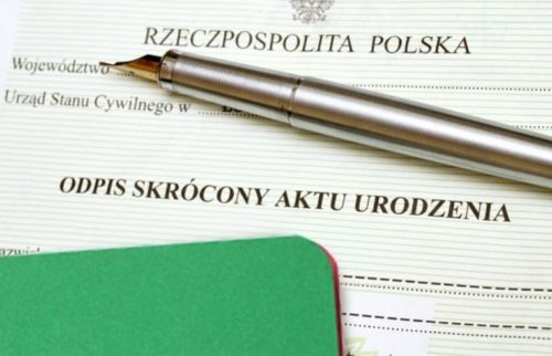 Реєстрація новонародженої дитини в Польщі