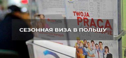 Сезонная виза на 9 месяцев в Польшу