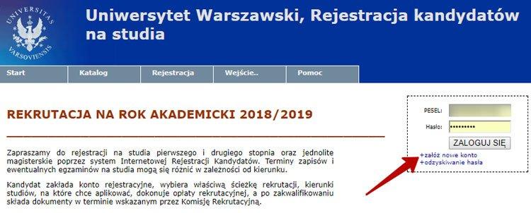 еєстрація на сайті www.irk.uw.edu.pl.