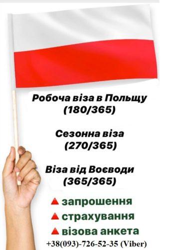 Віза в Польщу категорії Д