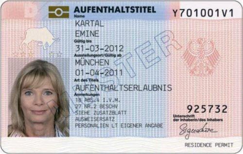 Aufenthaltserlaubnis (право на перебування)