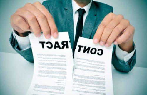 Варианты расторжения договора