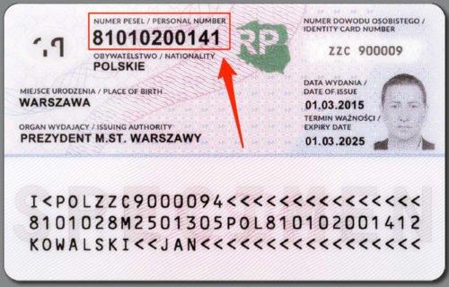 PESEL в Польше