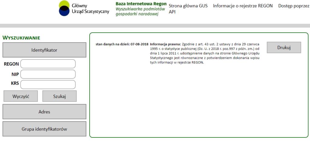 База данных REGON