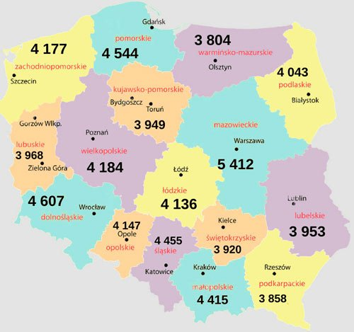 Яка середня і мінімальна зарплата в Польщі