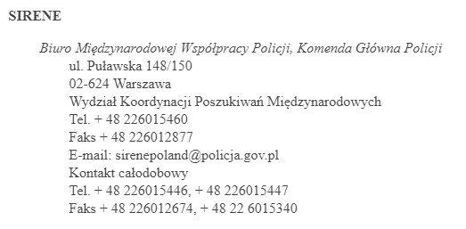 Як перевірити чи є я в базі SIS Польща