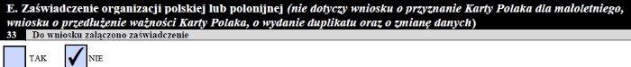 Блок E. Общественная организация, занимающаяся развитием польского языка и культуры
