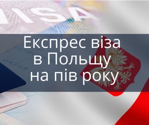 Експрес віза в Польщу на пів року