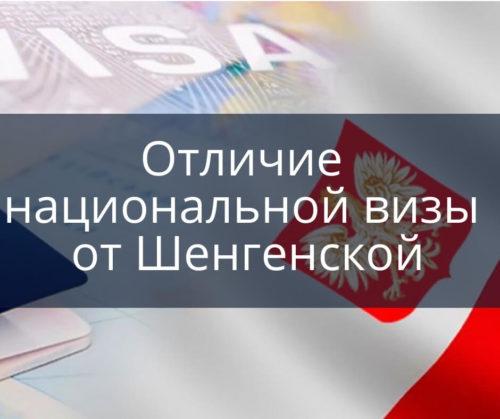 Национальная виза Польша Отличие национальной визы в Польшу от Шенгенской