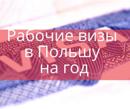 Рабочие визы в Польшу на год