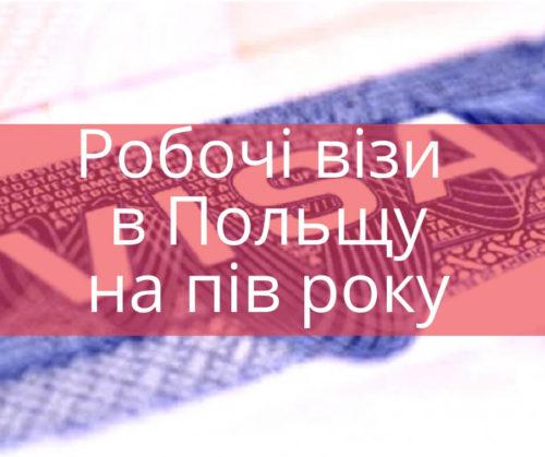 Робочі візи в Польщу - на пів року
