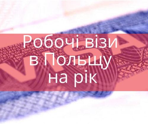 Робочі візи в Польщу на рік