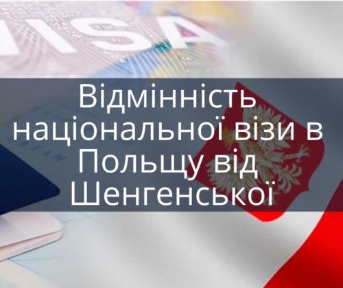 Відмінність національної візи в Польщу від Шенгенської