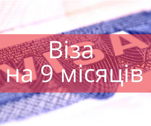 Робочі візи в Польщу Віза на 9 місяців