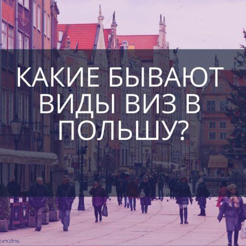 Какие бывают виды виз в Польшу?