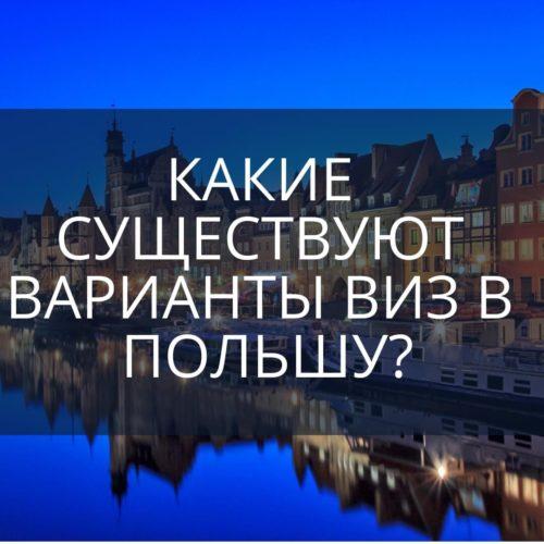 Какие существуют варианты виз в Польшу?