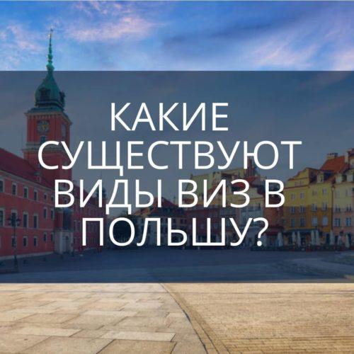 Какие существуют виды виз в Польшу?