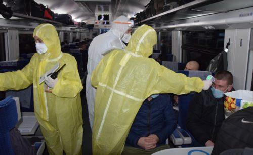 Проверка температуры в поезде