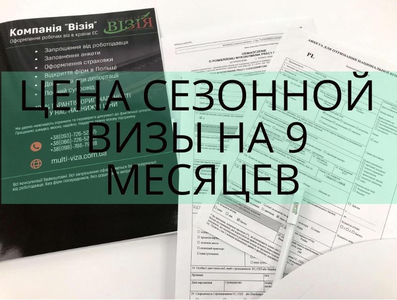 Купить визу в Польшу на 9 месяцев
